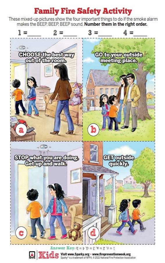 Family Fire Safety Activity