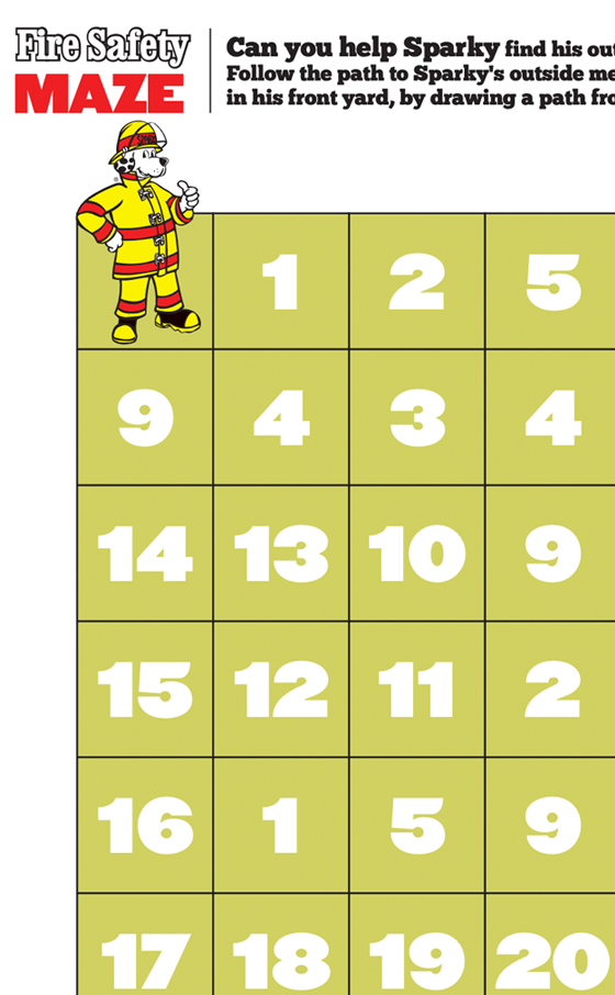 Fire Safety Number Maze