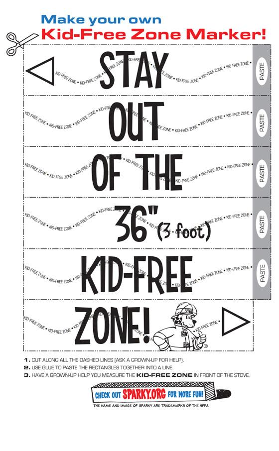 Kid Free Zone Marker