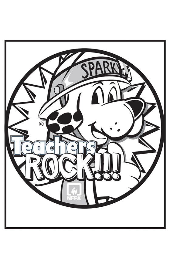 Teachers Rock Coloring Page